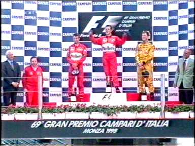 the podium at Monza